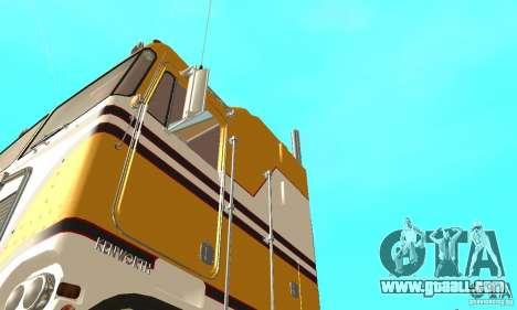 Kenworth K100C Aerodyne for GTA San Andreas inner view