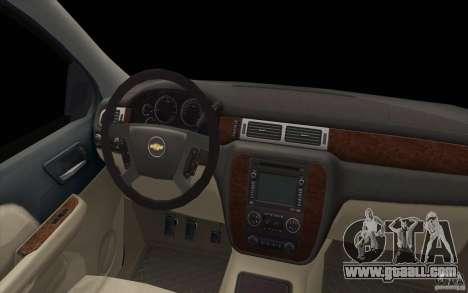 Chevrolet Suburban for GTA San Andreas upper view