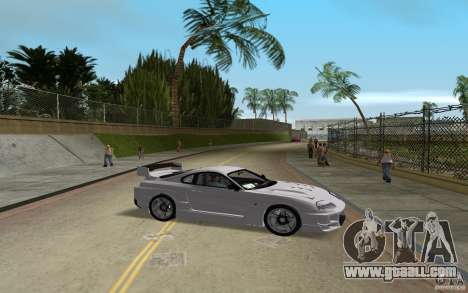 Toyota Supra Chargespeed for GTA Vice City back left view