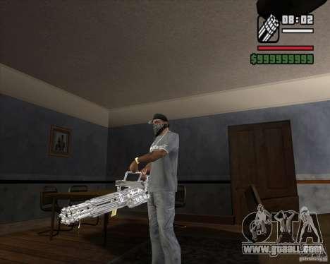 Chrome Minigun for GTA San Andreas second screenshot