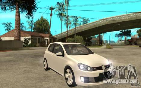 VW Golf 6 GTI for GTA San Andreas back view
