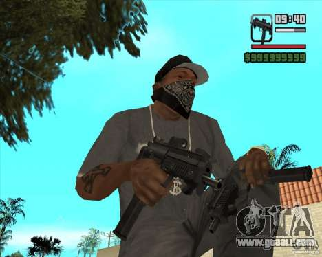 New Micro uzi HD for GTA San Andreas second screenshot