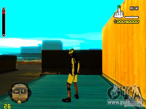 Skin bum v3 for GTA San Andreas third screenshot
