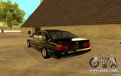 BMW 525 (E34) for GTA San Andreas back view