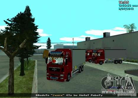 MAN TGL for GTA San Andreas