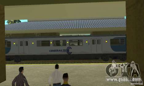 Cerberail Train for GTA San Andreas back left view