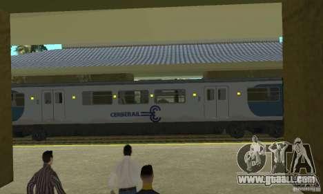 Cerberail Train for GTA San Andreas back left view