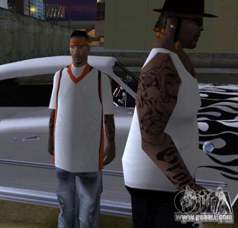 Replacement bands, tattoos, clothing, etc. for GTA San Andreas eleventh screenshot