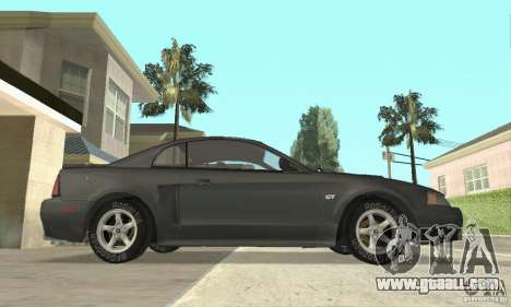 Ford Mustang GT 1999 (3.8 L 190 hp V6) for GTA San Andreas back left view