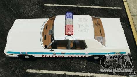 Dodge Monaco 1974 Police v1.0 [ELS] for GTA 4 right view