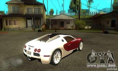 Bugatti Veyron Grand Sport for GTA San Andreas right view