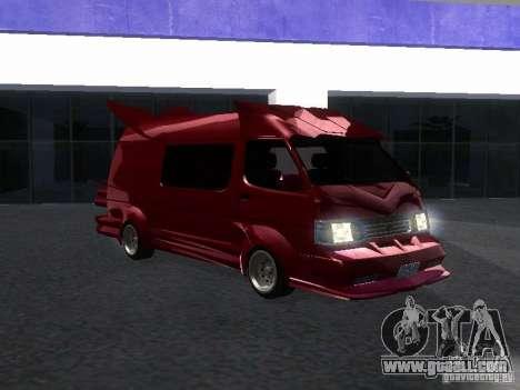 Toyota Hiace Vanning for GTA San Andreas