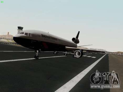 McDonell Douglas DC-10-30 British Airways for GTA San Andreas