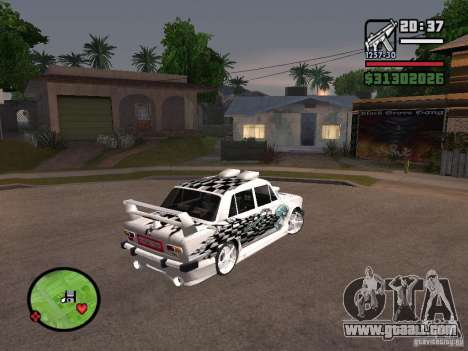 Vaz 2101 car tuning for GTA San Andreas left view