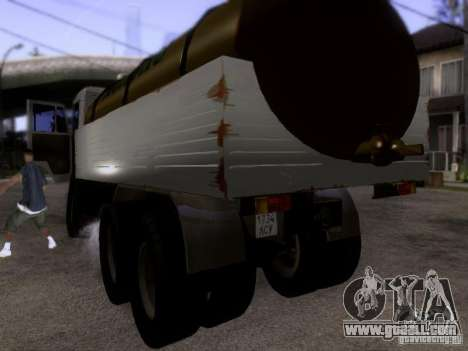KAMAZ 53212 milk tanker for GTA San Andreas back left view