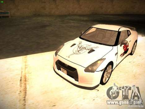 Nissan GT-R for GTA San Andreas interior