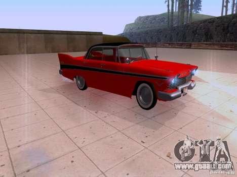 Plymouth Belvedere Sport Sedan 1957 for GTA San Andreas back left view