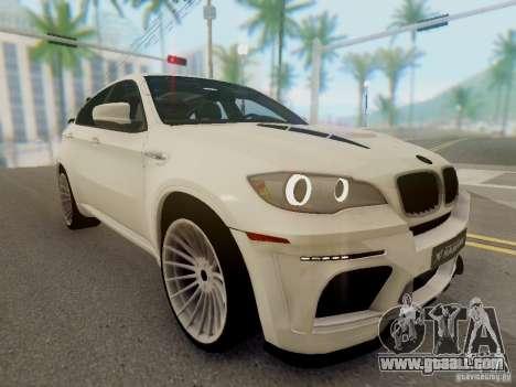 BMW X6 Hamann for GTA San Andreas back view