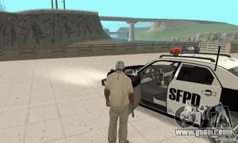 Chrysler 300C Police v2.0 for GTA San Andreas back view
