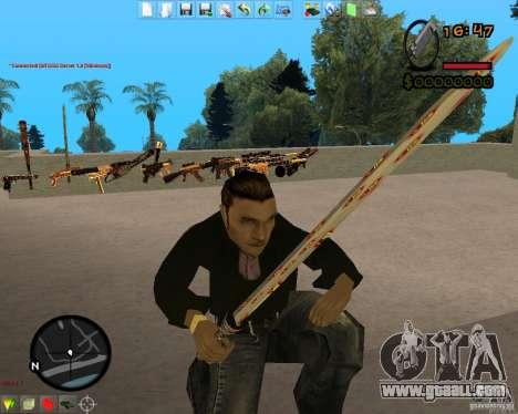 Smalls Chrome Gold Guns Pack for GTA San Andreas sixth screenshot