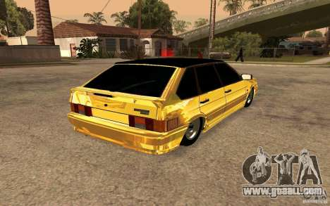 ВАЗ 2114 GOLD for GTA San Andreas back left view