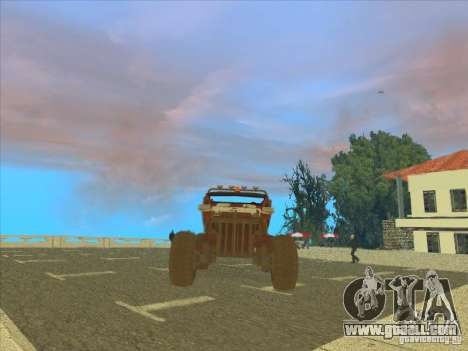Jeep from Red Faction Guerrilla for GTA San Andreas back view