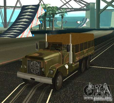Sand Barracks HD for GTA San Andreas back left view