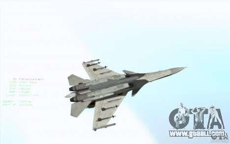 The Su-37 Terminator for GTA San Andreas side view