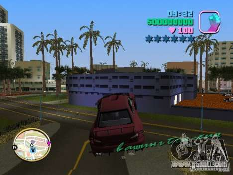 Subaru Impreza WRX STI for GTA Vice City back view
