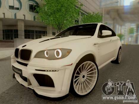 BMW X6 Hamann for GTA San Andreas back left view