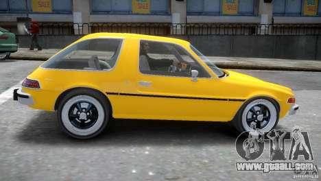 AMC Pacer 1977 v1.0 for GTA 4 inner view