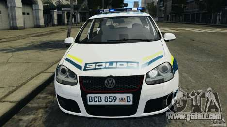 Volkswagen Golf 5 GTI South African Police [ELS] for GTA 4 upper view