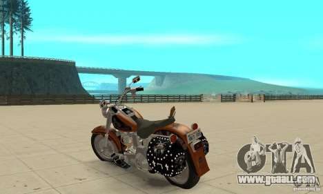 Harley Davidson FLSTF (Fat Boy) v2.0 Skin 2 for GTA San Andreas back left view