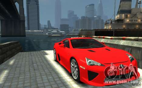 Lexus LFA v1.0 for GTA 4 back view