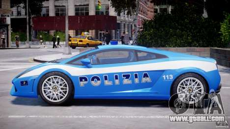 Lamborghini Gallardo LP560-4 Polizia for GTA 4 back left view