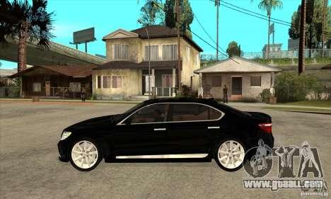 Lexus LS460L 2010 for GTA San Andreas left view