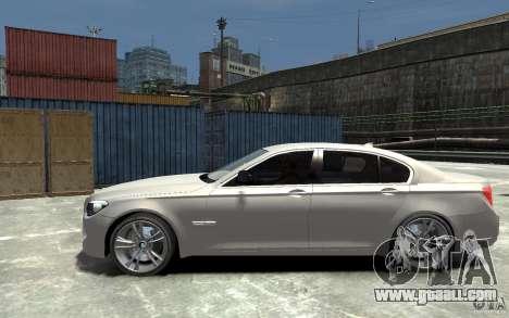 BMW 750i F01 v3 for GTA 4 left view