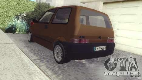 Fiat Cinquecento for GTA San Andreas back left view