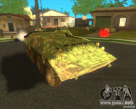 BTR-80 Electronic camouflage for GTA San Andreas left view
