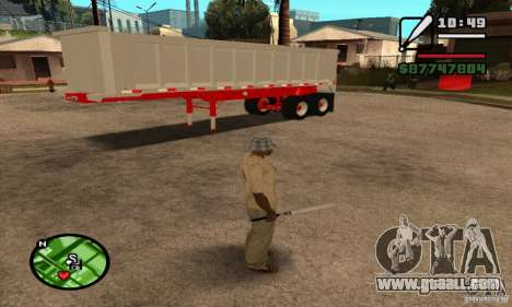 Artict3 Dump Trailer for GTA San Andreas inner view