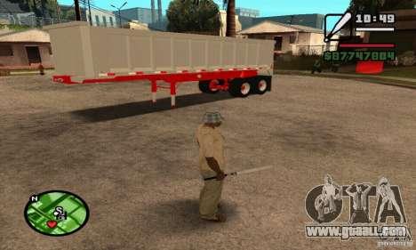 Artict3 Dump Trailer for GTA San Andreas inner view