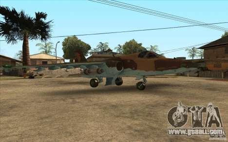 The Su-25 for GTA San Andreas right view