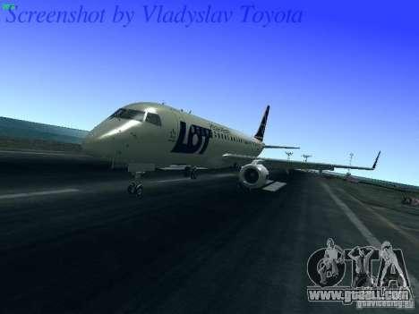Embraer ERJ 190 LOT Polish Airlines for GTA San Andreas