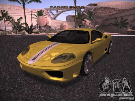 Ferrari 360 Modena for GTA San Andreas inner view