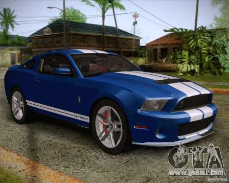 Ford Shelby GT500 2011 for GTA San Andreas inner view
