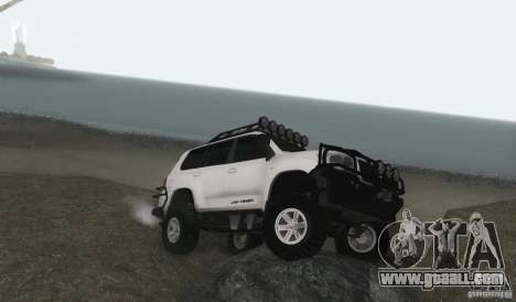 Toyota Land Cruiser 200 Off Road v1.0 for GTA San Andreas back left view