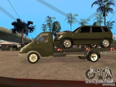 GAZ 3302 v 1.2 (Gazelle tow truck) for GTA San Andreas left view