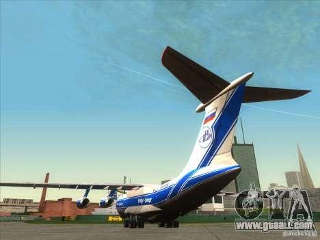 IL 76 m Aeroflot for GTA San Andreas back left view