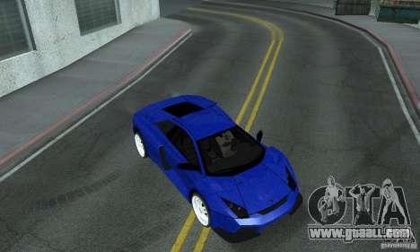 Lamborghini Murcielago Tuned for GTA San Andreas upper view