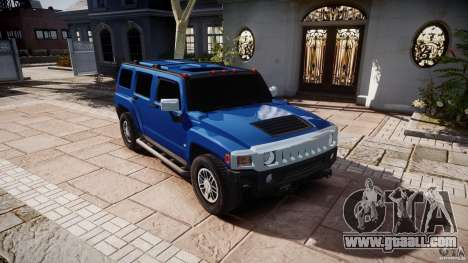 Hummer H3 for GTA 4 back view
